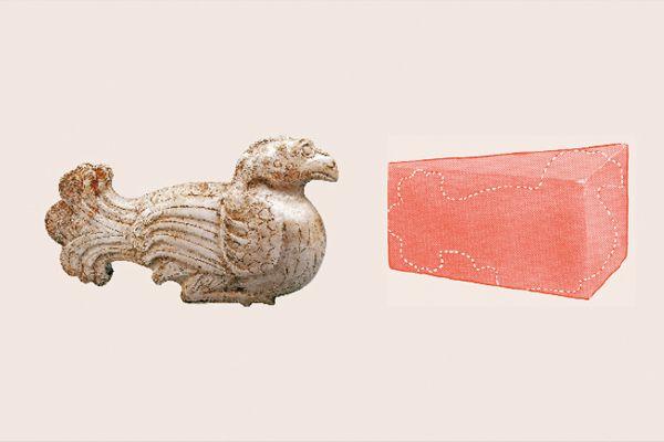 漢代玉鳥—厚薄不均玉料應用