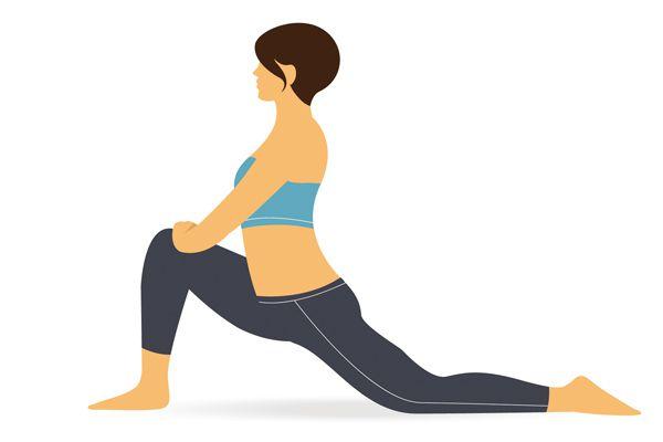 TIPS_單膝跪姿,重心向前移動,伸展另一側大腿前方肌肉。