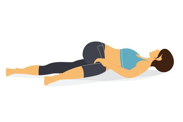 TIPS_躺地扭腰,腿擺往另一側。