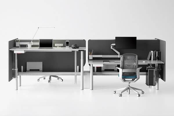 辦公家具設計符合人體工學健康訴求,推出升降桌系列。