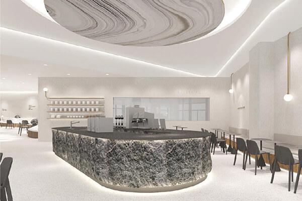 大陸喜茶福州東二環店將藝術與現代風格融合