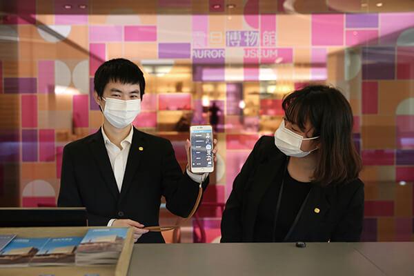 圖四_震旦博物館提供語音導覽器租借服務