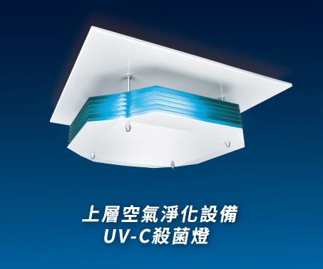 吸頂式_上層空氣淨化設備UV-C殺菌燈