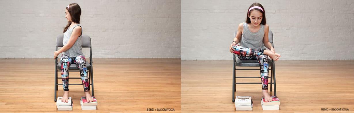 利用辦公椅即可完成坐姿伸展操。(圖片翻攝於yoga journal)
